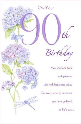 Image Unavailable Not Available For Color 90th Birthday Card 530979