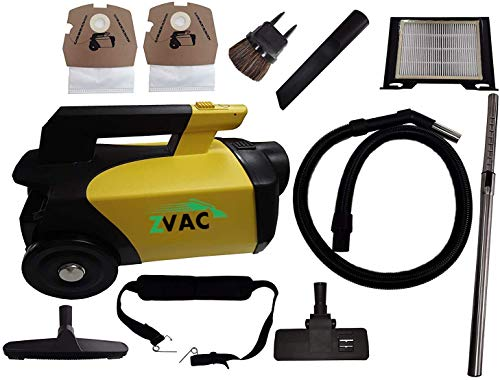 ZVac Canister Vacuum Cleaner Pet Edition – Rug, Upholstery, Crevice Cleaning Tool Kit – Stainless Steel Telescopic Wand – Hair, Dust, Dirt, Mite Remover for Car, Kitchen, Home – 120V Commercial Grade