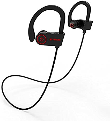 Amazon Com Bluetooth Earphones With Mic By Bt Waves Over Ear Workout Headphones Wireless Earbuds 10 Hours Battery Life For Running Enjoy Sport With True Sound 2 Years Guarantee Home Audio Theater