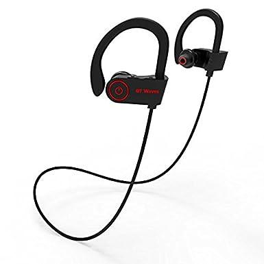 Ondas de BT Bluetooth Headset auriculares con micrófono - Top Rated auriculares inalámbricos auriculares para correr y ejercicio disfrutar de deporte con un ...