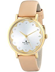 kate spade new york Womens 1YRU0586 Metro Watch With Beige Leather Band