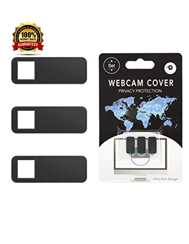 (Pack of 3 Ultra Thin Webcam Cover Slide for Laptop, Computer, MacBook Pro, Mac, PC, iPones and Android Smartphones)