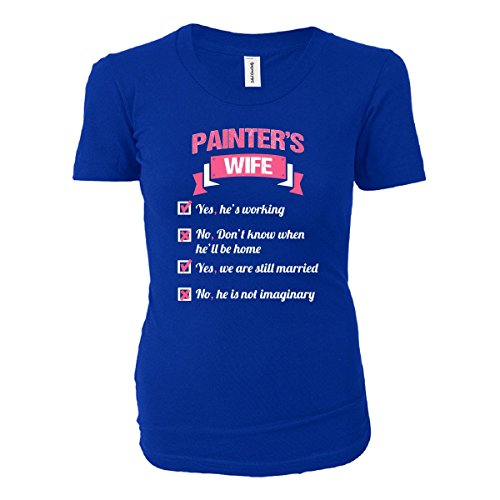 Painter's Wife Checklist Funny Gift - Ladies T-shirt