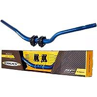 Guidão Oxxy Super Fat Bar Xre Lander E Adaptador Azul