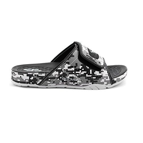 Boombah Herren Tyrant Digital Camo Slide Sandalen - 11 Farboptionen - mehrere Größen Schwarzgrau