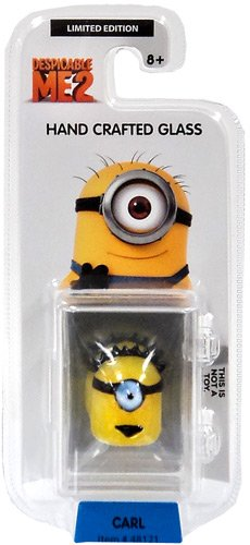 Despicable Me 2 Glassworld minion Hand Crafted Glass Figure Carl