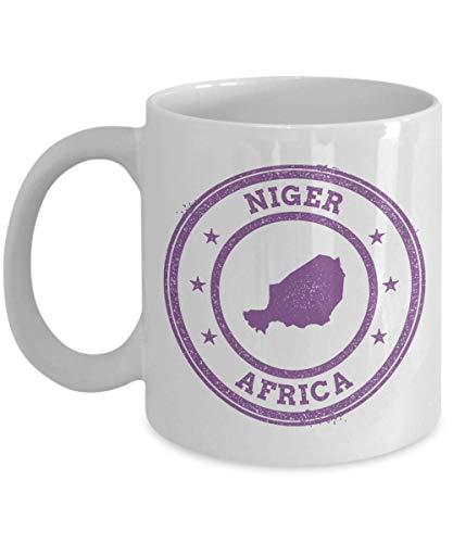 Niger travel stamp passport Africa novelty gift idea holiday for women men wife husband coworker friend birthday coffee mug 11 oz