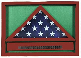 product image for flag connections Police/Fire Retirement Shadow Box