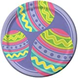 Eggcellant Easter 7-inch Paper Plates 8 Per Pack