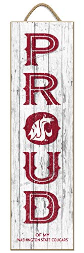 NCAA Washington State Cougars | Proud | Sign | Wood | Rope Hanger