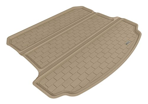 (3D MAXpider Cargo Custom Fit All-Weather Floor Mat for Select Acura MDX Models - Kagu Rubber (Tan))