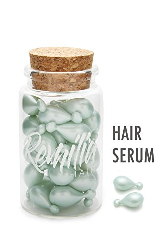 The Cosmocap Dry Hair Serum – Best Frizzy Hair Treatment for Damaged Hair – Remilia Hair Capsules for Shiny Hair Keratin Silk Pro-Vit B5 – GMO-Paraben-Sulfate Free for All Hair Types (30 Capsules)