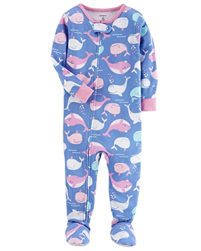 Girls Whale (Carter's Baby Girls' One Piece Whale Snug Fit Cotton Pajamas 18 Months)