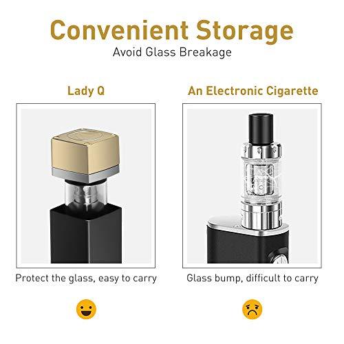Cigarrillo Electronico Vaper Kit Cigarros Electronicos de Vapor Relleno Superior Vape Pen Batería Recargable,Lady Q Mini Ajuste Flujo de aire cigarro ...