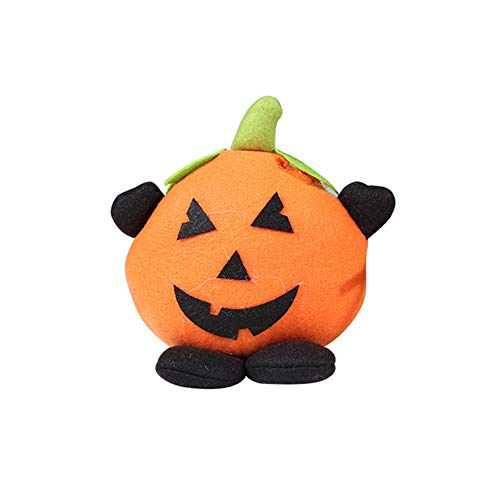 Connoworld Halloween Pumpkin Witch Doll Party Home Showcase Shopping Mall Kids Decor Gift Pumpkin -