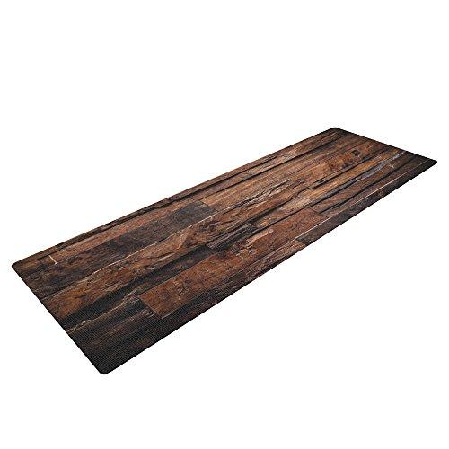 Cheap Kess InHouse Susan Sanders Espresso Dreams Exercise Yoga Mat, Rustic Wood, 72″ by 24″