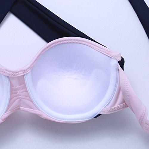 KUWOMINI.Triangular Bikini Traje De Baño Bikini Traje De Baño De Moda De Playa Pink