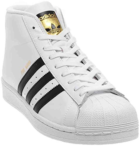 adidas Originals Men's Pro Model-m Running Shoe Black/White, ((6 M US)