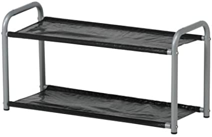 Ikea LUSTIFIK - Sombrero/Zapatero, Plata Color/Negro - 60 cm