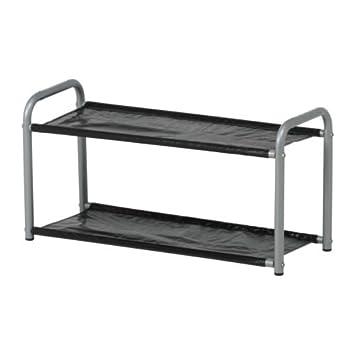Ikea LUSTIFIK - Sombrero/Zapatero, Plata Color/Negro - 60 cm ...