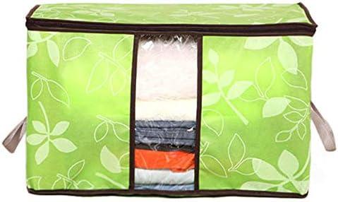 Momyeah Aufbewahrungstasche Faltbare Organizer Kleidung Decke Aufbewahrung Organizer Quilt Closet Organizer Kleidung Kleiderschrank Aufbewahrungstasche Quilt Organizer Aufbewahrung, grün