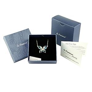 Le Premium? Morpho Farfalla Collana Pendente Realizzata con Cristalli Swarovski – Blu Indaco