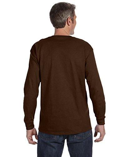 Heavyweight Adult Tee Baseball - Jerzees Adult Heavyweight Blend Long-Sleeve T-Shirt, Chocolate, Large