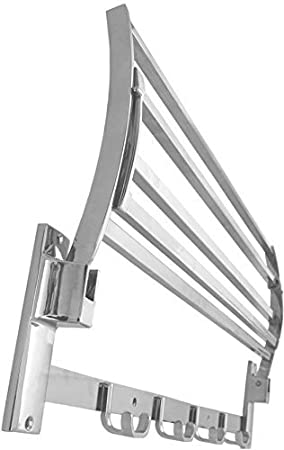 Fortune Heavy Square Stainless Steel Folding Towel Rack (24 inch Long) Pack of (1)
