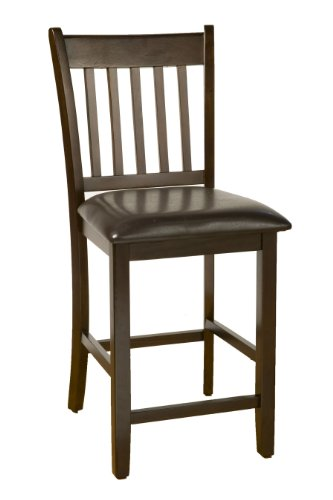 Alpine Furniture Capitola Faux Leather Counter Height Pub Chairs (Set of 2) Alpine Leather Chair