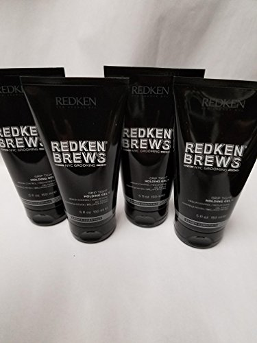 Redken Grip Tight Holding Gel for Men Medium Control 5oz (4 Pack) (Grip Redken Tight)