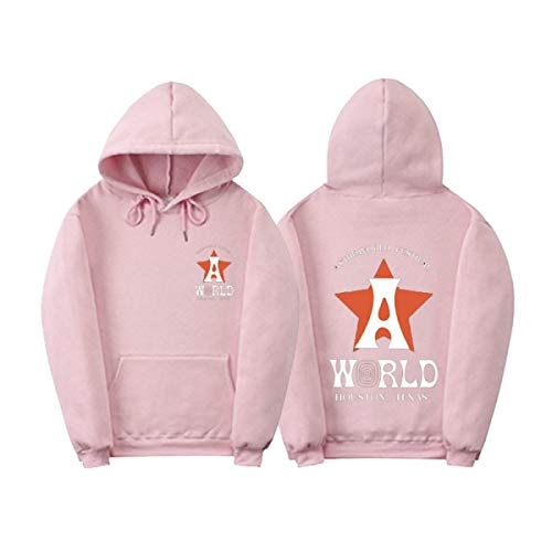 Myhome99 Hooded Astroworld Hoodies Sweatshirt Men Fashion Letter Print Hoodie Man and Woman Pink