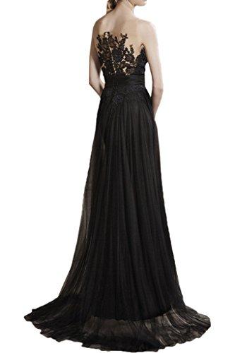 Victory Bridal - Robe - Trapèze - Femme -  noir - 50