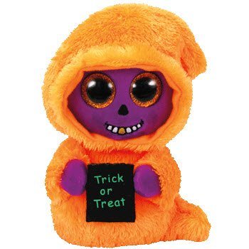 TY Beanie Boos - SKELTON Orange/Purple Reaper Halloween 6