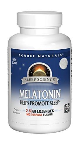 Source Naturals Melatonin 2.5mg, Orange, 60 Tablets
