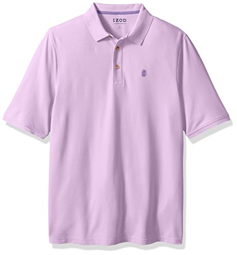 IZOD Men's Big and Tall Advantage Performance Solid Polo, Chalk Violet, X-Large Tall