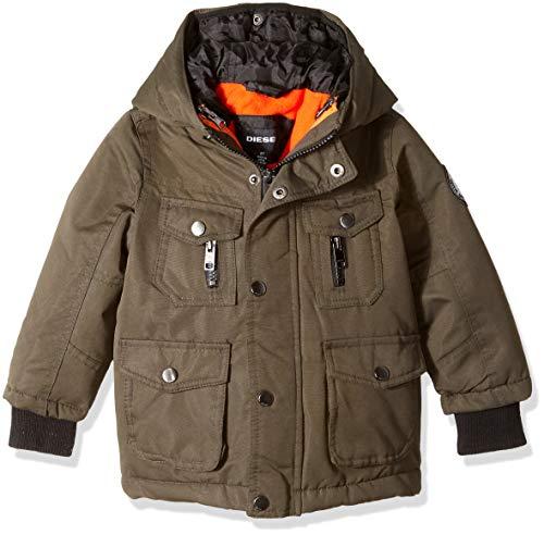 Diesel Boys' Big Paprika Systems Jacket, Olive, 10/12