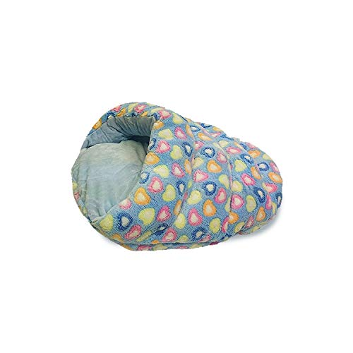 Sleep Zone Plush Cuddle Cave Dog Bed – Fabric Bottom – 22X16 Inches / Blue / Attractive, Durable, Comfortable, Washable…