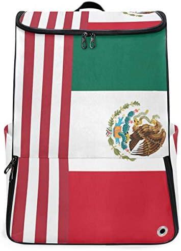 リュック メンズ レディース リュックサック 3way バックパック 大容量 ビジネス 多機能 メキシコ系アメリカ人の国旗 スクエアリュック シューズポケット 防水 スポーツ 上下2層式 アウトドア旅行 耐衝撃