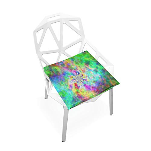 Pingshoes Seat Cushion Hippie Colorful Chair Cushion Offices Butt Chair Pads Square Car Mat for Student