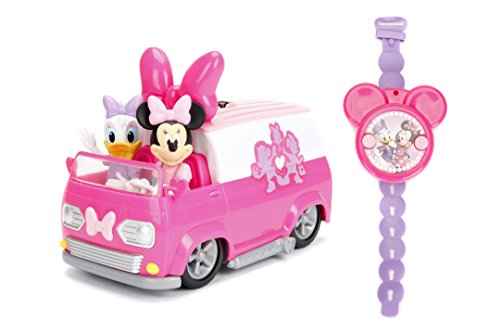 Jada Toys Disney Junior Minnie Mouse Happy Helper's Van RC/Radio Control Toy Vehicle, Pink/White]()