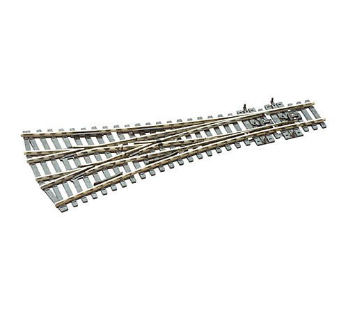 Three Way Turnout (Peco HO Scale Code 100 Electrofrog 3-Way Turnout)