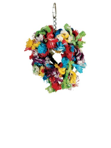Paradise Toys Small Cotton Preening Ring 5-Inch W by 7-Inch L