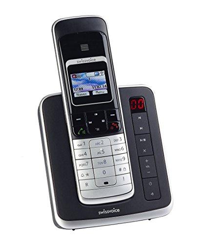 Swissvoice Eurit 459 TAM Colour Schnurloses ISDN Telefon mit Anrufbeantworter und graphischem hintergrundbeleuchtetem Farbdisplay (DECT, FullECO)