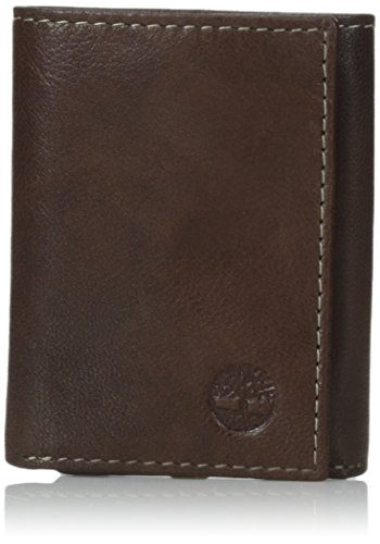 (Timberland Mens Leather Trifold Wallet With ID Window)