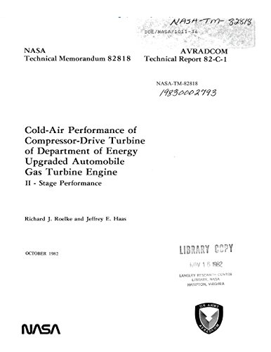 Cold-Air Performance of Compressor-Drive Turbine of Department of Energy Upgraded Automobile Gas Turbine Engine. 2: Stage Performance