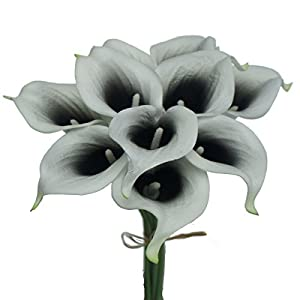 Lily Garden Artificial Picasso Calla Lily Flower Bouquets 12