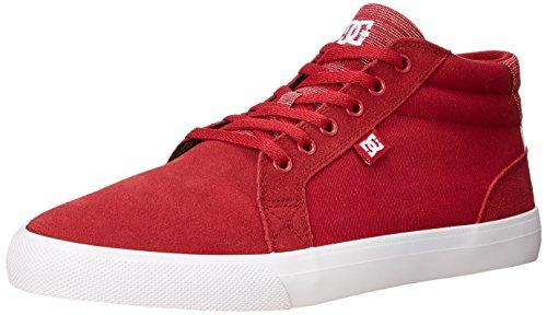 DC Women's Council Mid SE Skate Shoe - Red - 8 B(M) US
