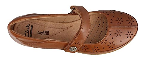 Everlay Tan Flats Mary Bai Clarks Women's Jane n4ywq6Wg1
