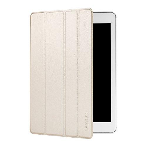 EasyAcc Ultra Slim iPad Air 2 Hülle Case Cover Schutzhülle Bumper Lederhülle Flip mit Standfunktion / Auto Sleep Wake up für iPad Air 2 / ipad 6 - Gold, Ultra Slim