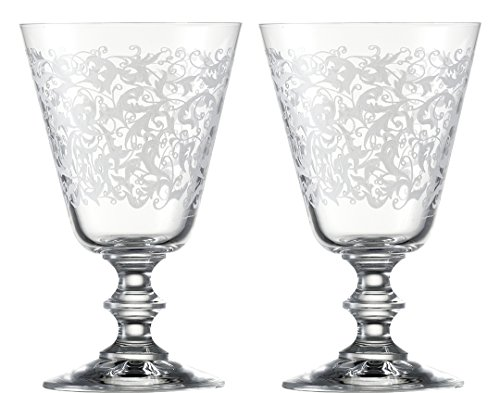 Eisch 15862010 Vincennes Hand-Etched Lead-Free Crystal Red Wine/Goblet, Set Of 2, 10.2 Oz, Clear